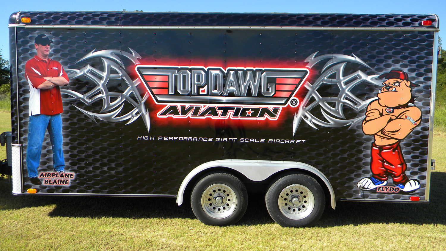 Top Dawg Aviation Trailer Wrap Sign Dimensions